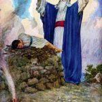 God and Abraham.